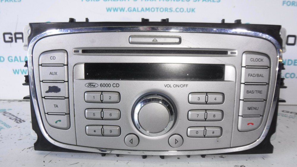ford galaxy mk3 s max mondeo mk4 2006 2010 radio cd 6000. Black Bedroom Furniture Sets. Home Design Ideas